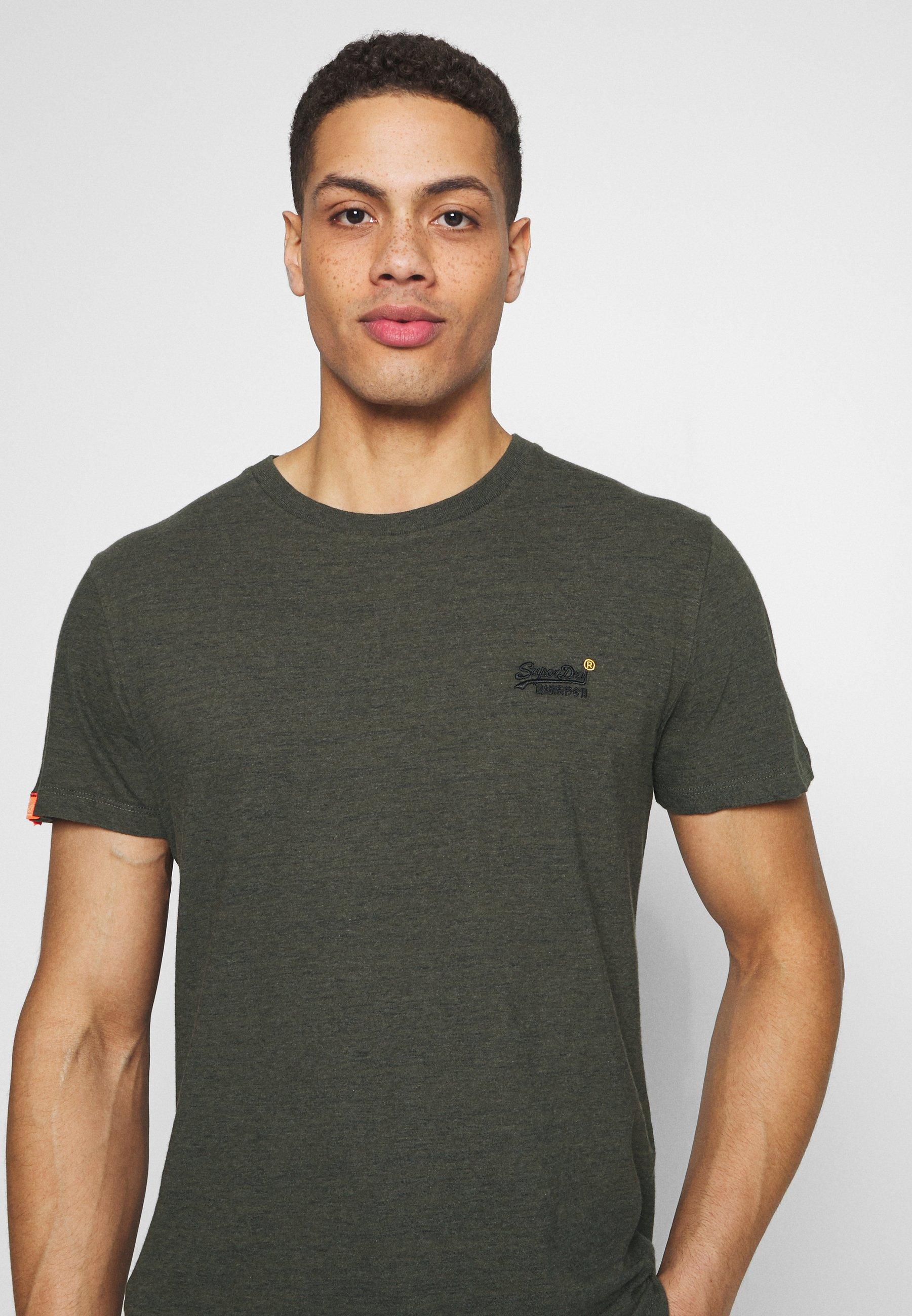 Superdry VINTAGE CREW - Basic T-shirt - desert olive/space dye Jzwwh