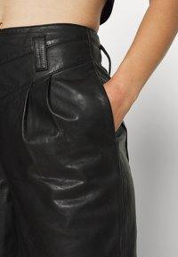 Topshop - ELLA  - Leather trousers - black - 4