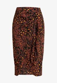 Whistles - BRUSHED LEOPARD SARONG SKIRT - Pouzdrová sukně - brown/multi - 3