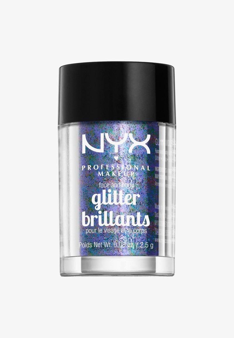 Nyx Professional Makeup - FACE & BODY GLITTER - Glitter & jewels - 11 violett