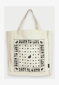 Scotch & Soda - BORN TO LOVE - Tote bag - ecru - 3