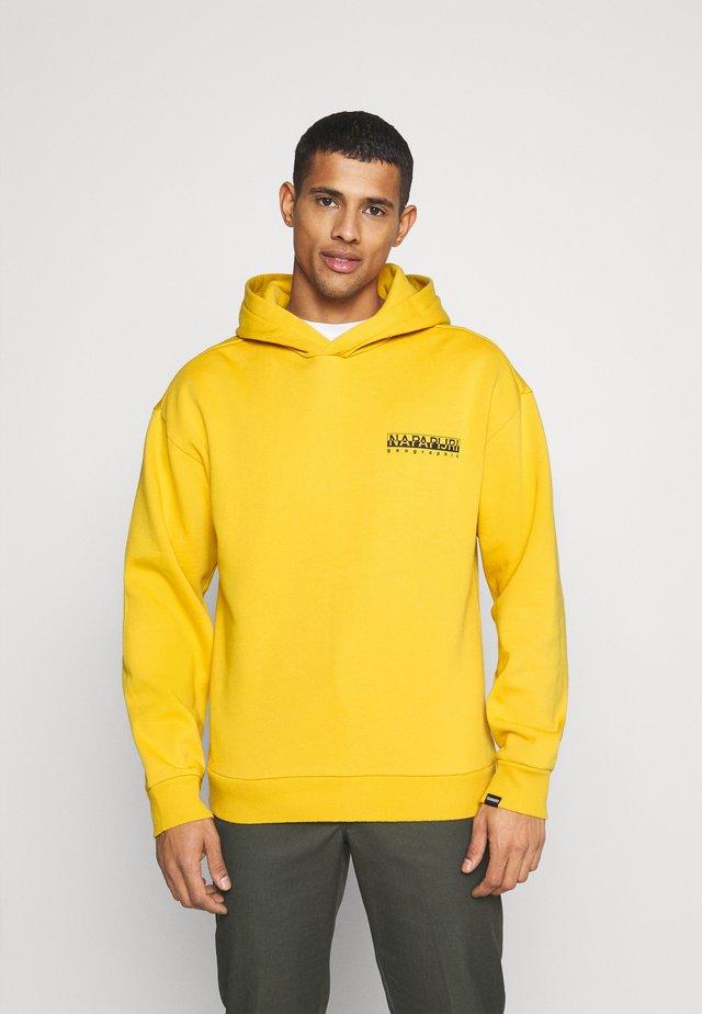 YOIK UNISEX - Felpa con cappuccio - yellow solar