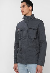 Superdry - CLASSIC ROOKIE MILITARY JACKET - Summer jacket - carbon grey - 0