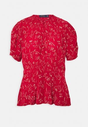 SHORT SLEEVE - Blusa - tender red