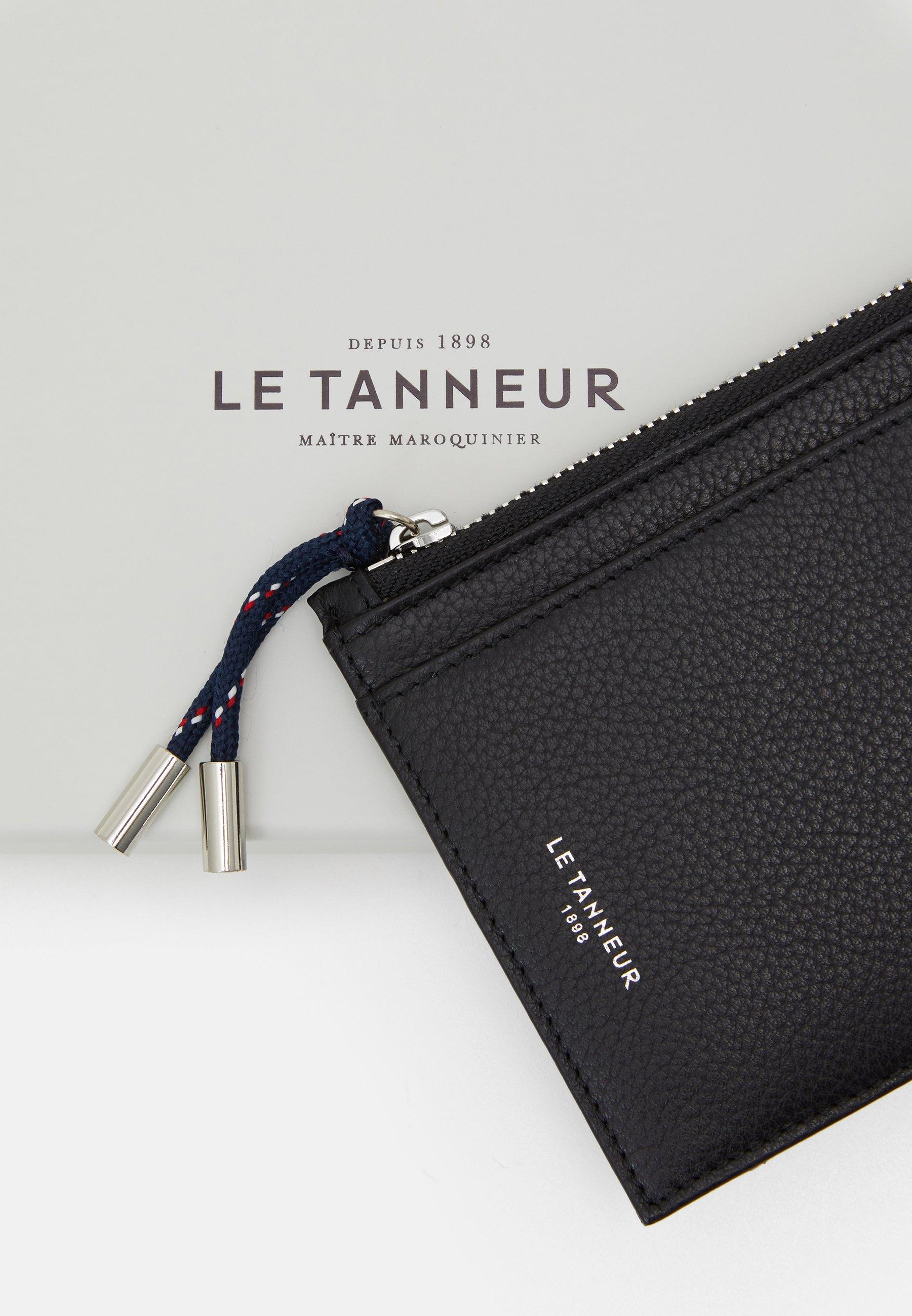 Le Tanneur NATHAN ZIPPED CARDS HOLDER - Lommebok - noir/svart 016XSFFwy3yinVM