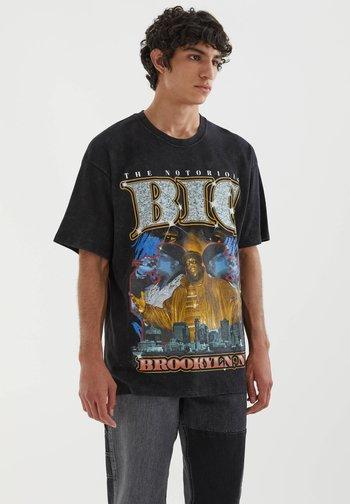 THE NOTORIOUS B.I.G - Print T-shirt - mottled black