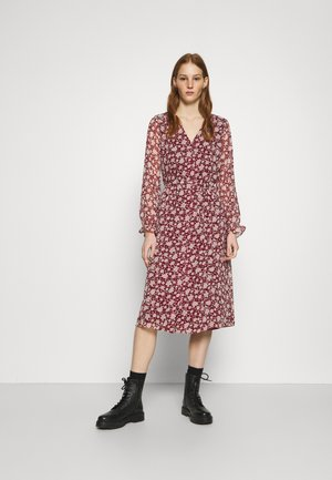 CALF DRESS - Skjortekjole - cabernet