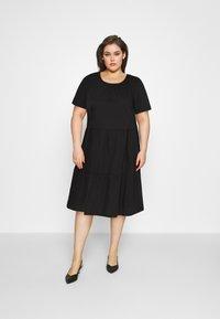 Vero Moda Curve - VMGULVA ABOVE KNEE DRESS - Day dress - black - 1