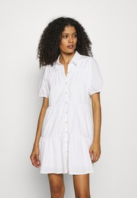 Abercrombie & Fitch - SHIRTDRESS - Sukienka koszulowa - white - 0