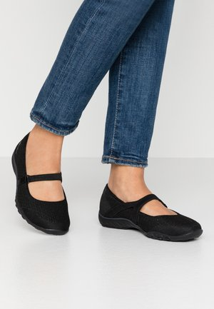 BREATHE-EASY - Ankle strap ballet pumps - black