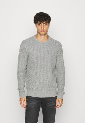 Svetr - mottled light grey