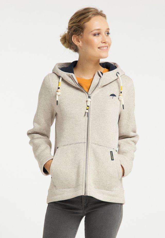 Fleece jacket - elfenbein melange
