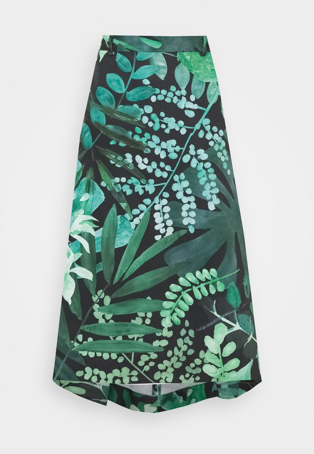 FREDDURA - A-line skjørt - green pattern