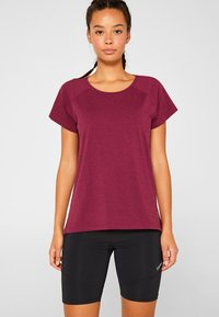 Esprit Sports - Print T-shirt - dark pink - 0