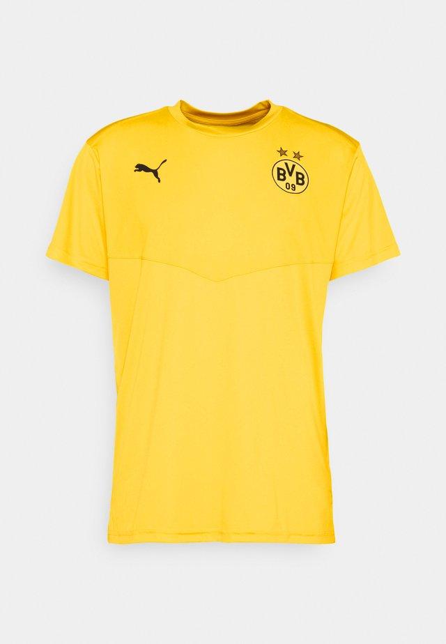 BVB BORUSSIA DORTMUND WARMUP TEE - Fanartikel - cyber yellow/black