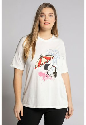 SNOOPY  - Print T-shirt - snow white