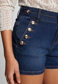 Morgan - Denim shorts - blue denim - 3