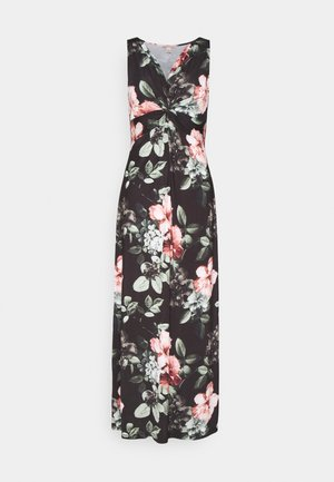 Maxi-jurk - black/pink/light green