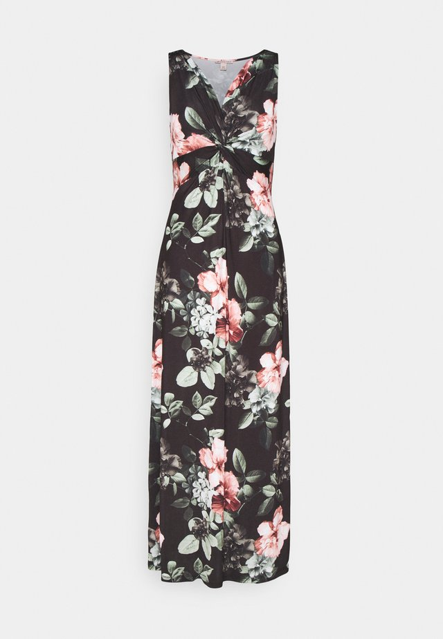 Robe longue - black/pink/light green