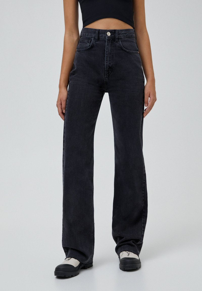 PULL&BEAR - Jeansy Straight Leg - black