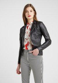 Pinko - STRAVEDERE GIACCA - Leather jacket - black - 0