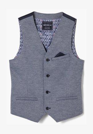 Waistcoat - blue melange