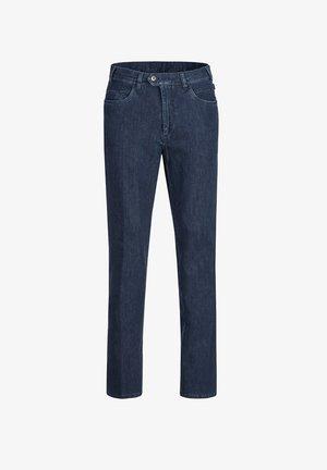 MILANO II DO MIT VERSCHOBENEM KNOPFVERSCHLUSS - Slim fit jeans - midblue