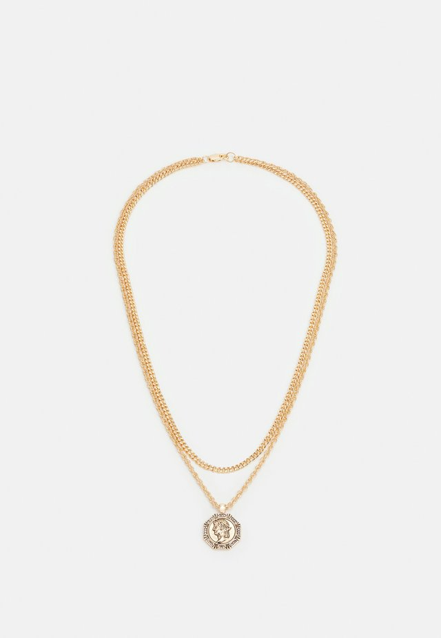 HEX COIN MULTIROW - Ketting - gold-coloured