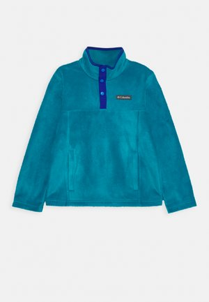 STEENS 1/4 SNAP - Fleece jumper - fjord blue/lapis blue