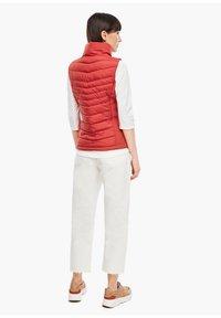 s.Oliver - Waistcoat - dark red - 2