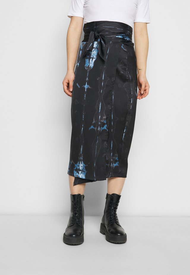 TIE DYE JASPRE SKIRT - Pencil skirt - navy multi