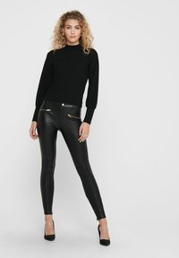ONLY - Leather trousers - black - 1