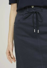 TOM TAILOR - MIT KORDELZUG - A-line skirt - sky captain blue - 4