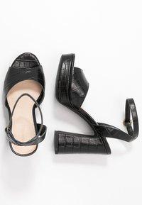 Anna Field - LEATHER HEELED SANDALS - Sandales à talons hauts - black - 3