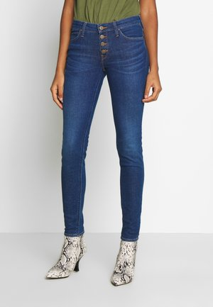 SCARLETT BUTTONS - Jeans Skinny Fit - dark blue denim