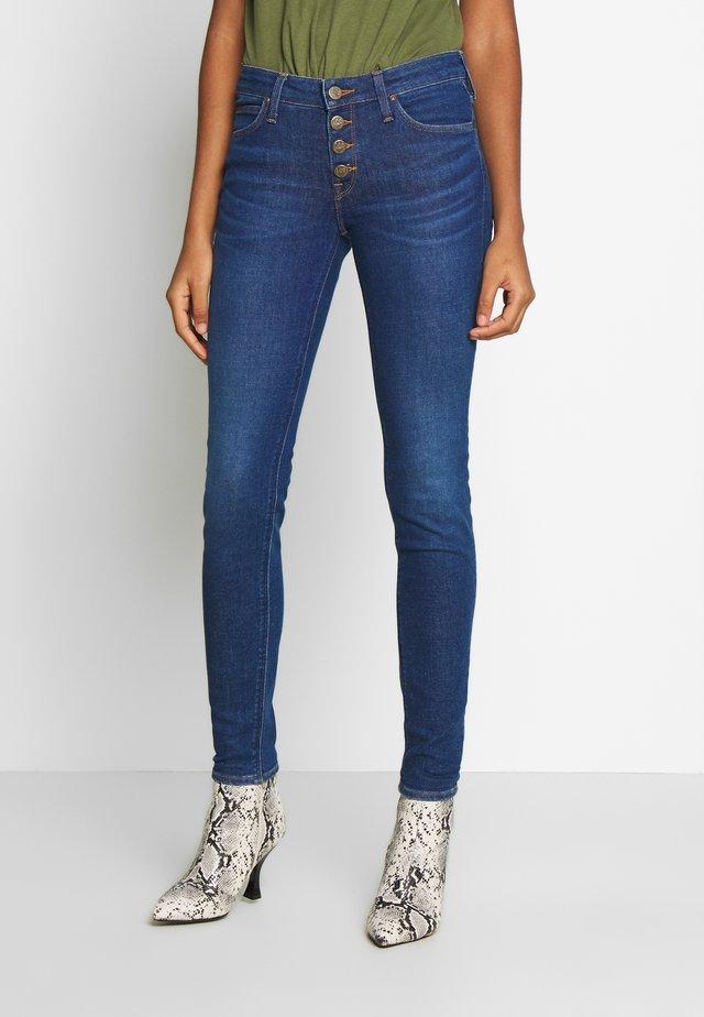 SCARLETT BUTTONS - Jeansy Skinny Fit - dark blue denim