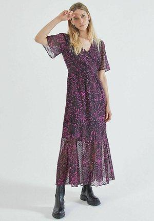 FLORAL PRINT DOTTED SWISS LONG  - Maxi dress - fuchsia