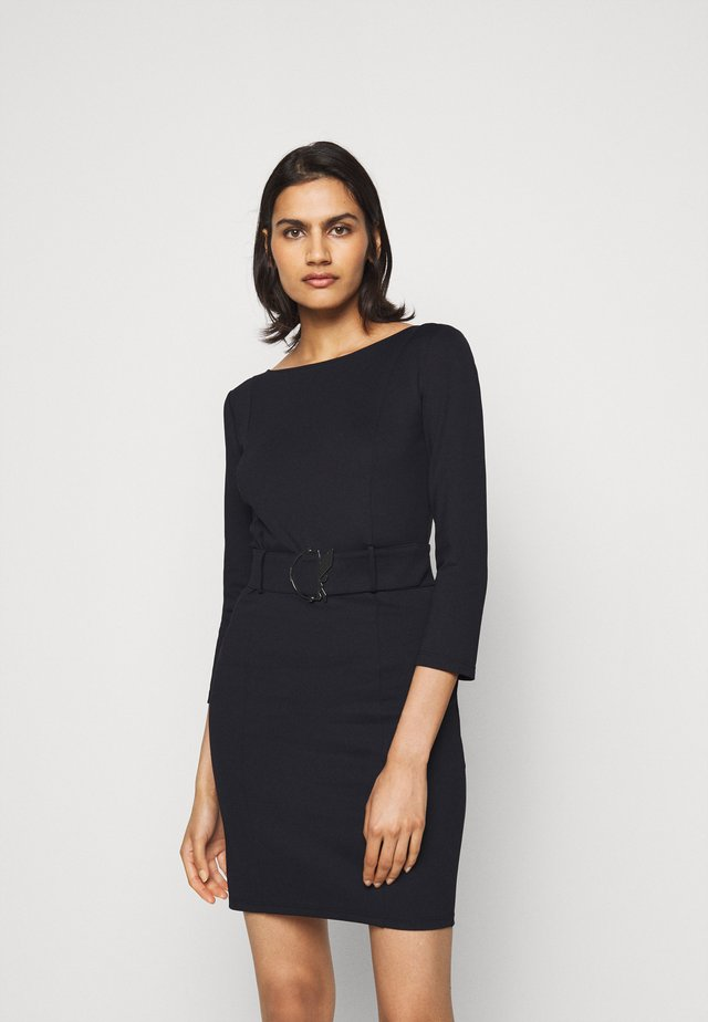 LOGO BELT DRESS FLY - Shift dress - nero