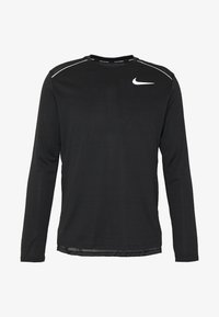 Nike Performance - DRY MILER - Sports shirt - black/silver