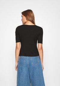 Lindex - VIRA - Basic T-shirt - black - 2