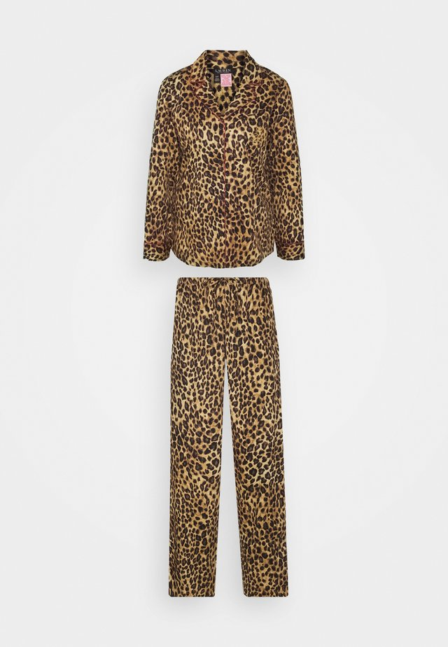 LONG PJ SET - Pyjamas - brown