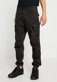 G-Star - ROXIC STRAIGHT TAPERED - Cargo trousers - raven - 0
