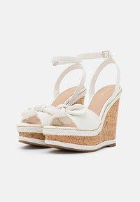 ALDO - ABAWEN - Platform sandals - white - 2