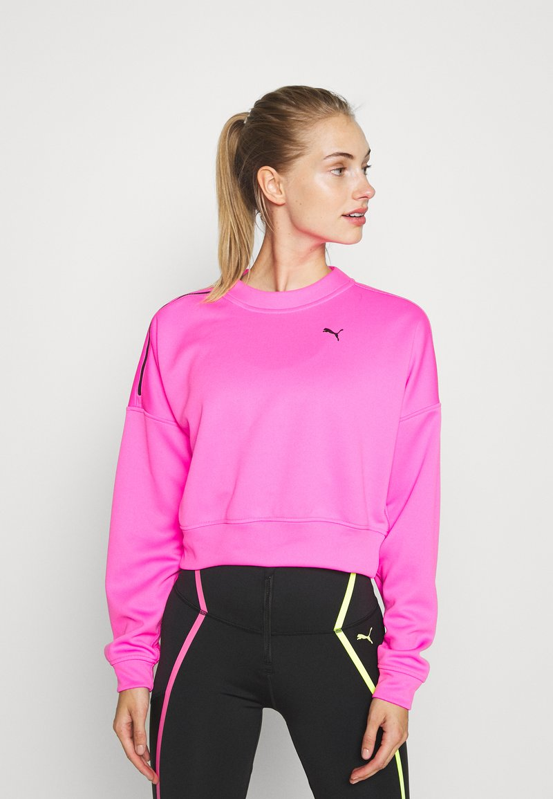 Puma - TRAIN BRAVE ZIP CREW - Sudadera - luminous pink