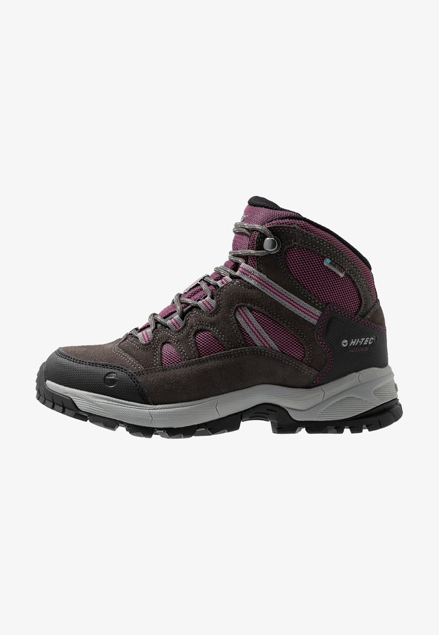 BANDERA LITE MID WP WOMENS - Hiking shoes - charcoal/amaranth/light grey
