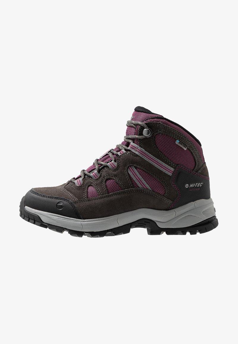 Hi-Tec - BANDERA LITE MID WP WOMENS - Hiking shoes - charcoal/amaranth/light grey