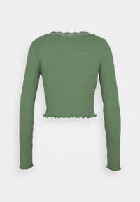 BDG Urban Outfitters - VNECK LACE CARDIGAN TOP - Kardigan - green - 1