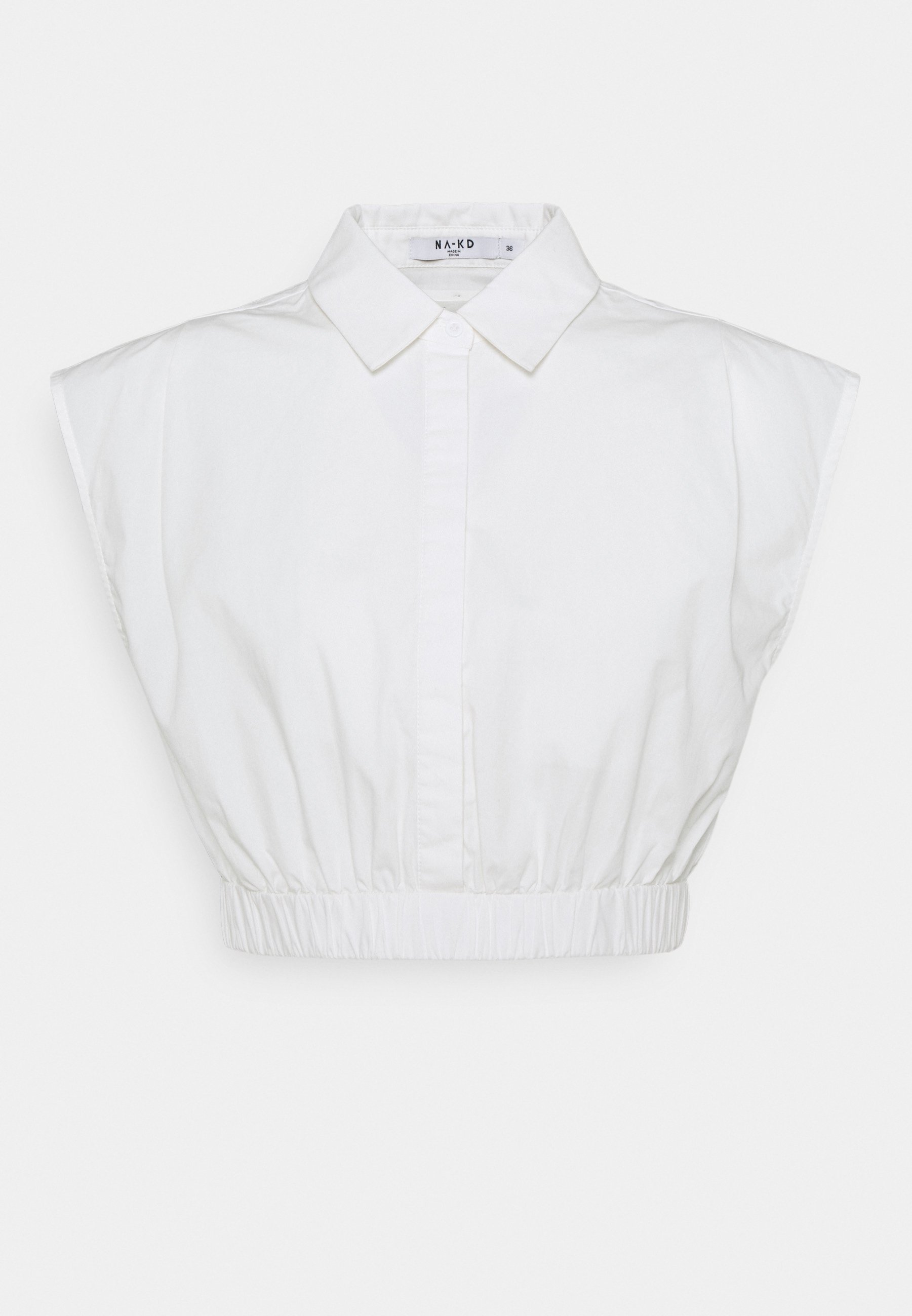 Women CROPPED WIDE SHOULDERS - Button-down blouse