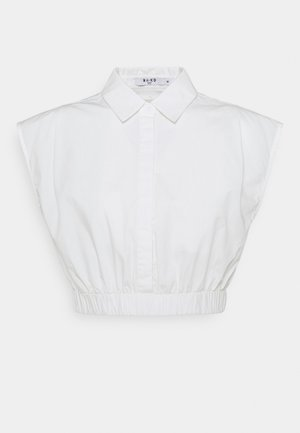 CROPPED WIDE SHOULDERS - Camicia - white