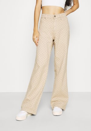 DISTRESSED SLOUCHY  - Trousers - putty